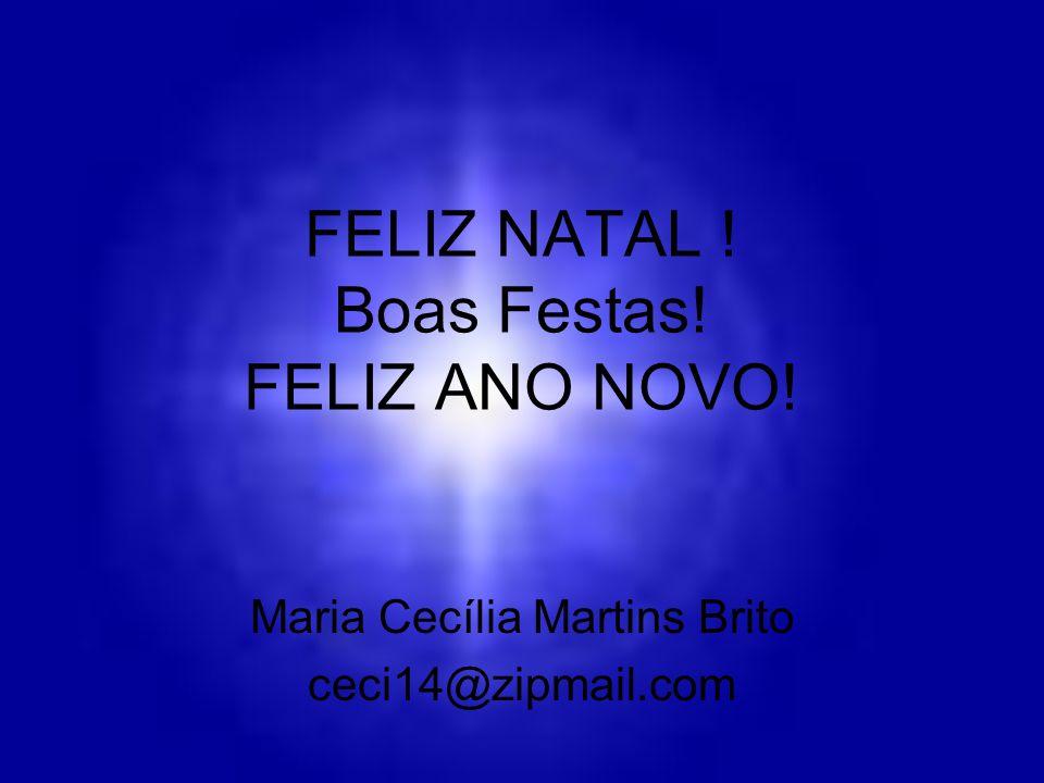 FELIZ NATAL ! Boas Festas! FELIZ ANO NOVO! Maria Cecília Martins Brito ceci14@zipmail.com