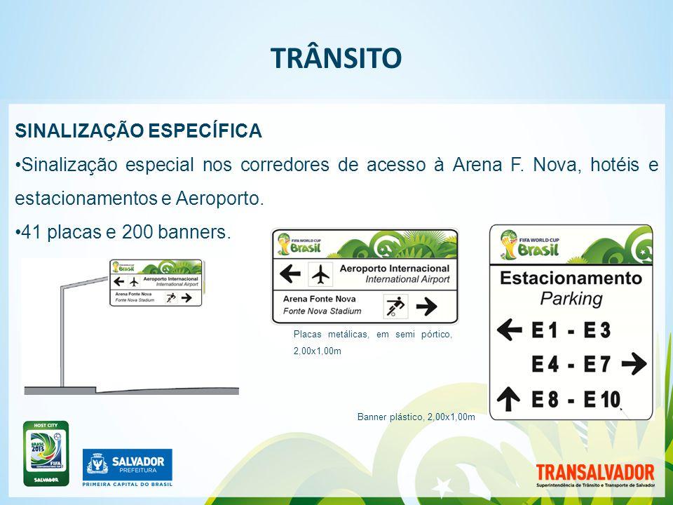 | TRÂNSITO SINALIZAÇÃO ESPECÍFICA Sinalização especial nos corredores de acesso à Arena F.
