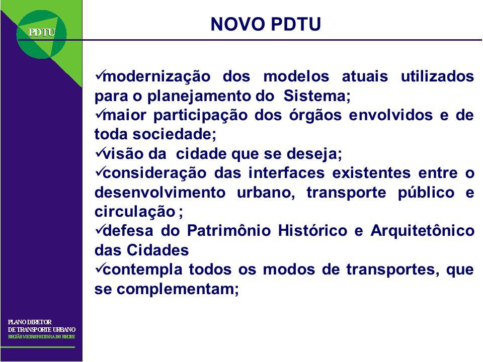 modernização dos modelos atuais utilizados para o planejamento do Sistema; maior participação dos órgãos envolvidos e de toda sociedade; visão da cida