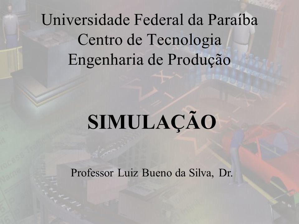 Universidade Federal da Paraíba Centro de Tecnologia Engenharia de Produção SIMULAÇÃO Professor Luiz Bueno da Silva, Dr.