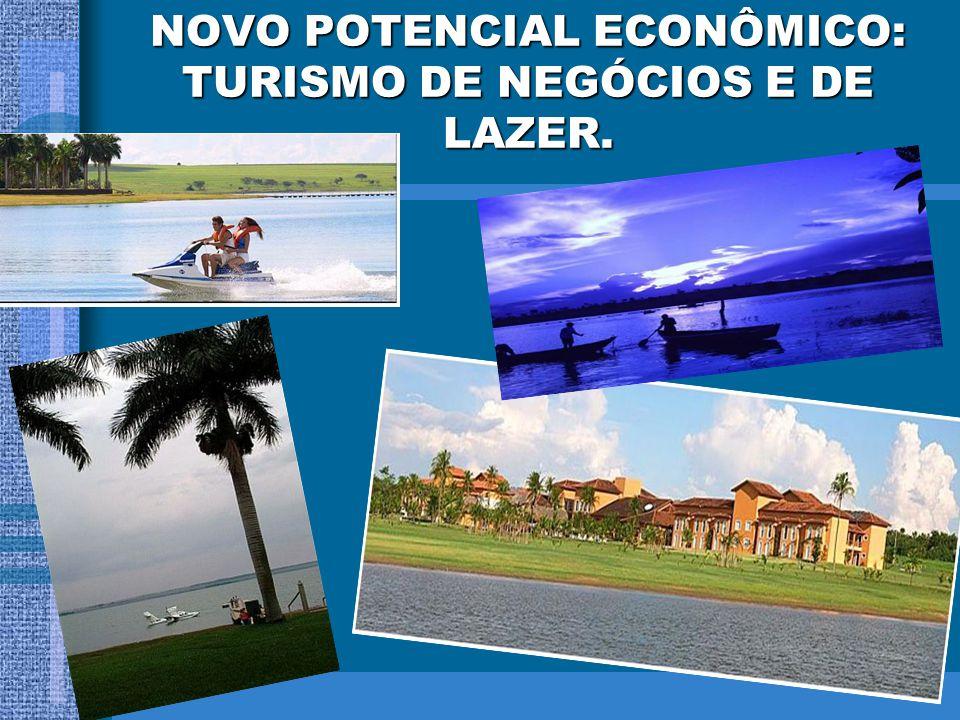 NOVO POTENCIAL ECONÔMICO: TURISMO DE NEGÓCIOS E DE LAZER.