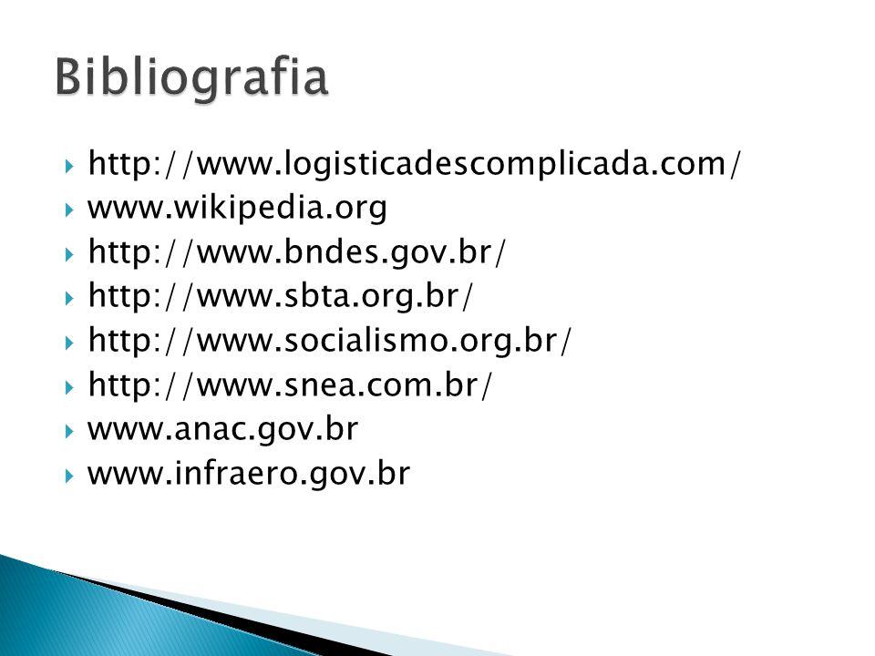 http://www.logisticadescomplicada.com/ www.wikipedia.org http://www.bndes.gov.br/ http://www.sbta.org.br/ http://www.socialismo.org.br/ http://www.sne