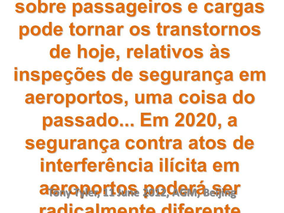 A combinação entre tecnologia e informações sobre passageiros e cargas pode tornar os transtornos de hoje, relativos às inspeções de segurança em aeroportos, uma coisa do passado...