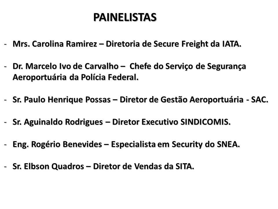 PAINELISTAS -Mrs.Carolina Ramirez – Diretoria de Secure Freight da IATA.