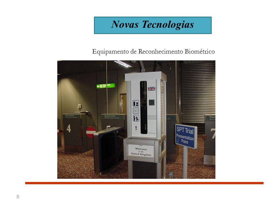 9 TECNOLOGIA DE SCANNING Novas Tecnologias Sistemas de Detecção de Explosivos (Para Passageiros)