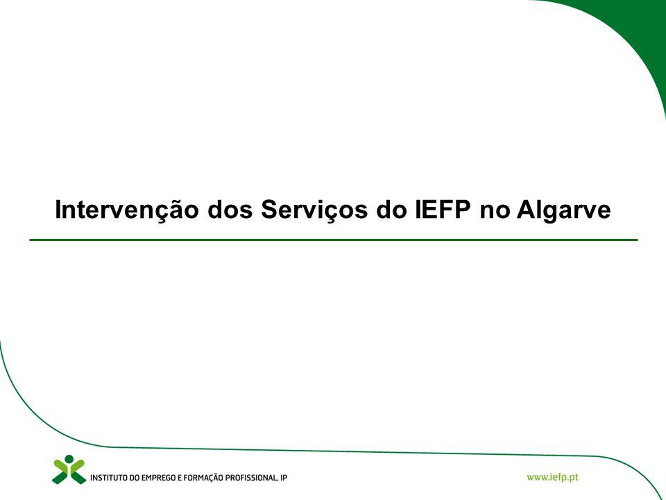 Intervenção dos Serviços do IEFP no Algarve