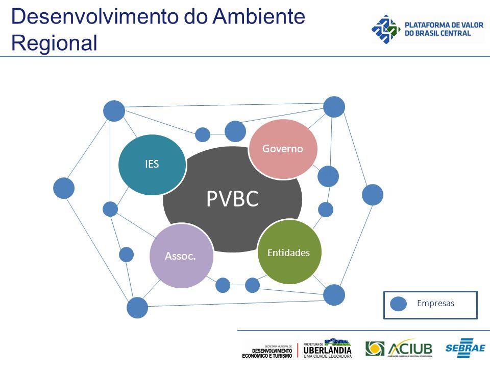 Desenvolvimento do Ambiente Regional PVBC IES Governo Assoc. Entidades Empresas