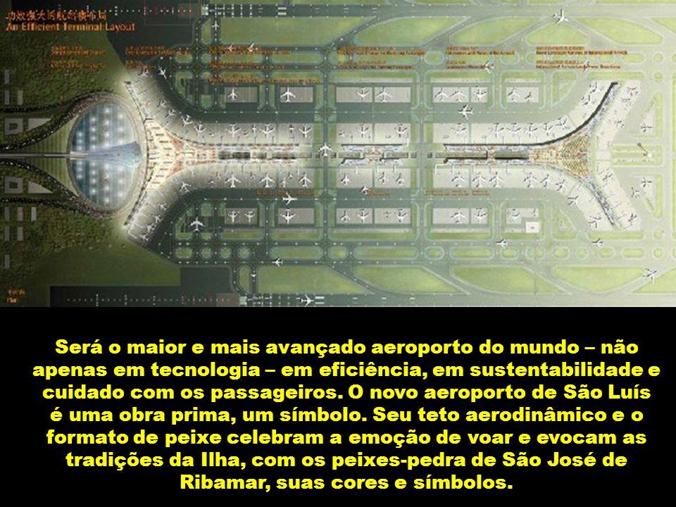 O novo aeroporto de São Luís, projetado por arquitetos dinamarqueses, está impressionando a todos.