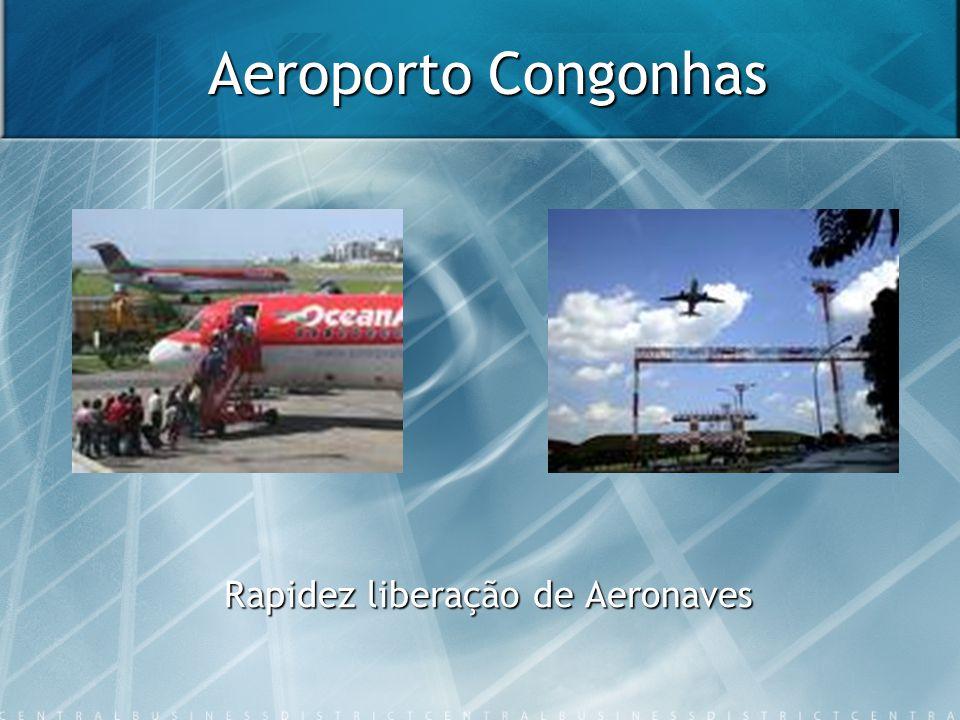 Aeroporto Congonhas Rapidez liberação de Aeronaves