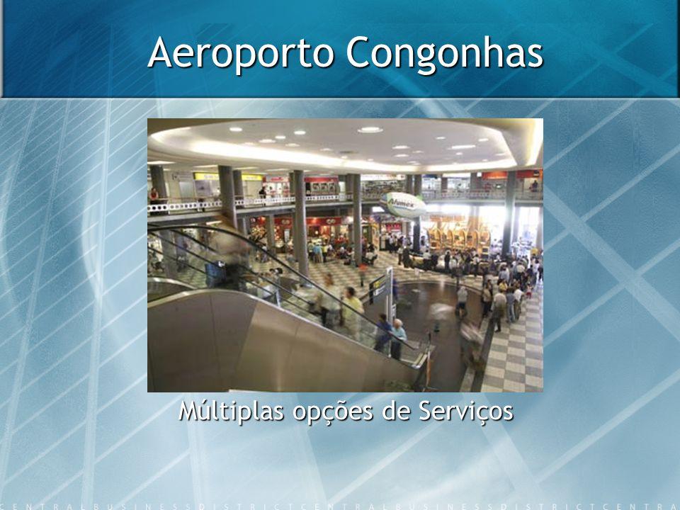 Aeroporto Congonhas Múltiplas opções de Serviços