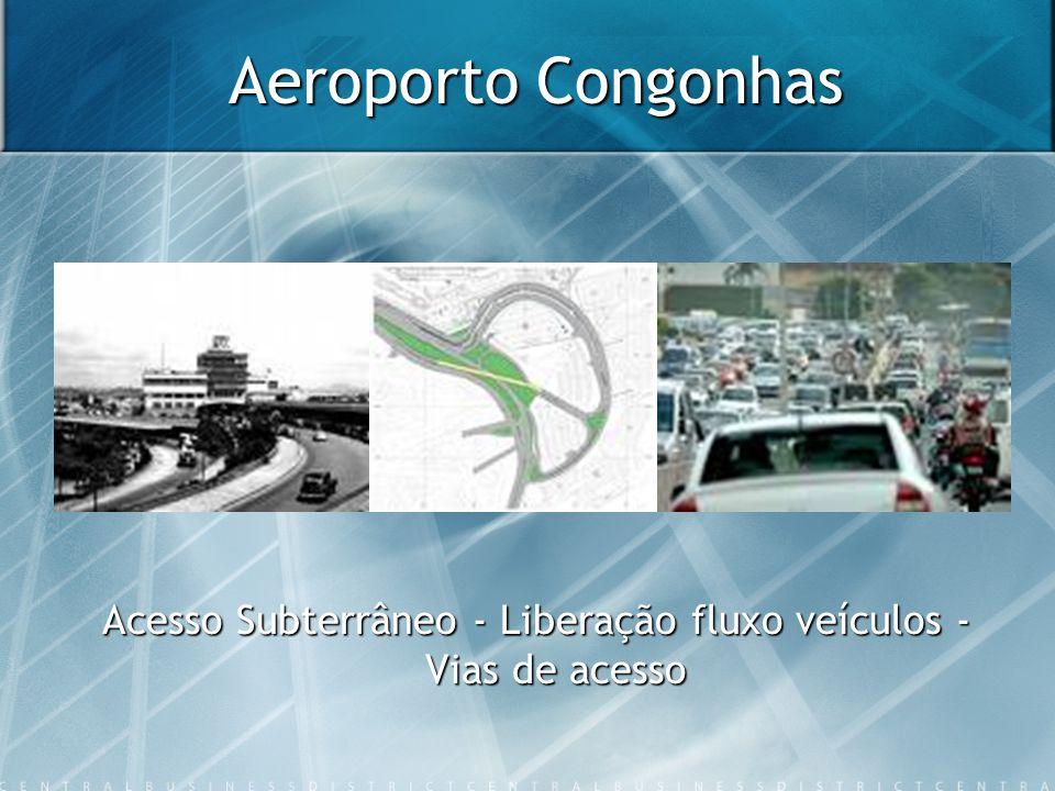 Aeroporto Congonhas Acesso Subterrâneo - Liberação fluxo veículos - Vias de acesso