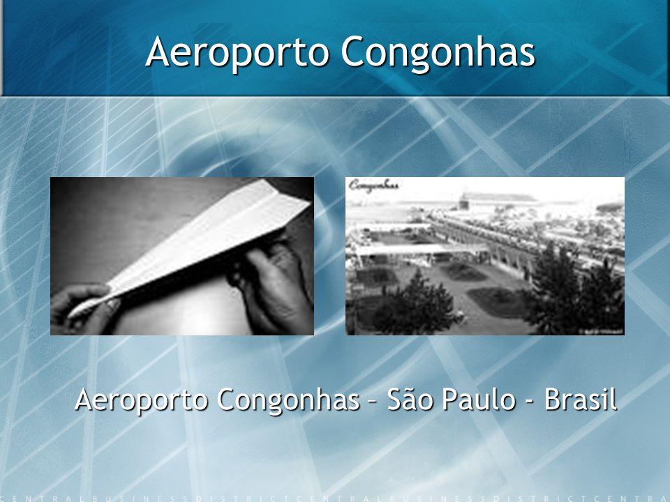 Aeroporto Congonhas Área Atual Serviços 1.647.000m² Capacidade Terminal 17 milhões passageiros/ ano