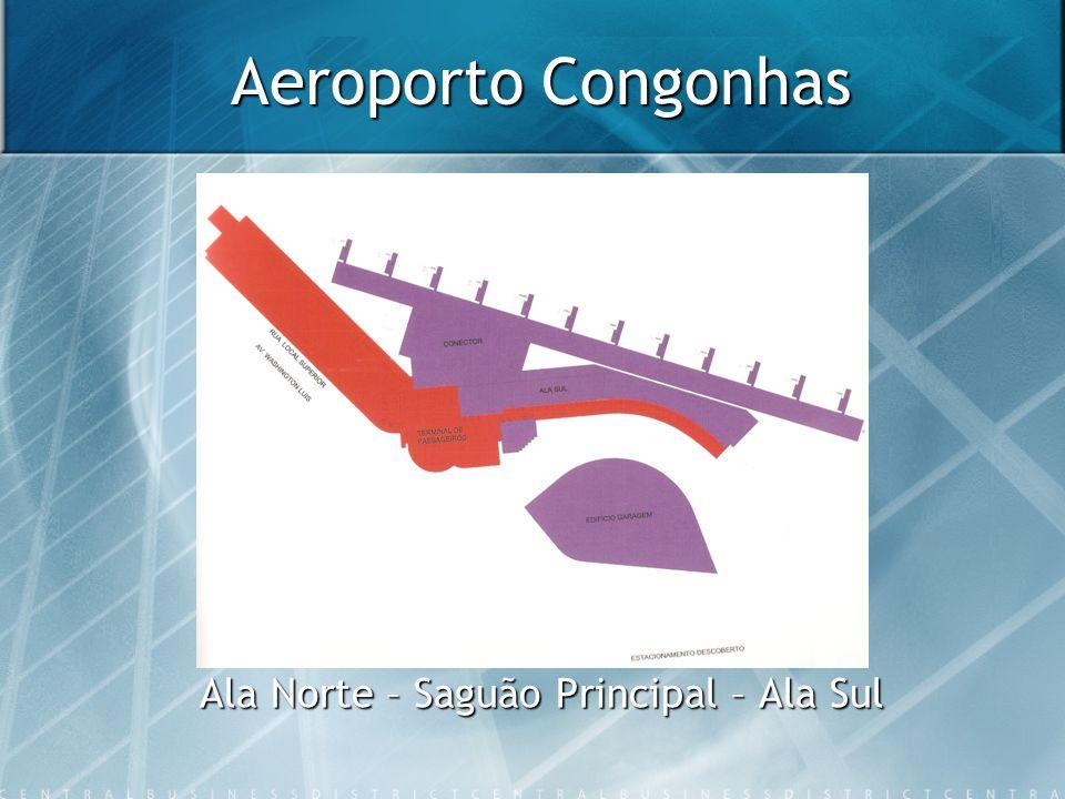 Aeroporto Congonhas Ala Norte – Saguão Principal – Ala Sul