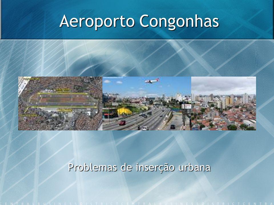 Aeroporto Congonhas Problemas de inserção urbana