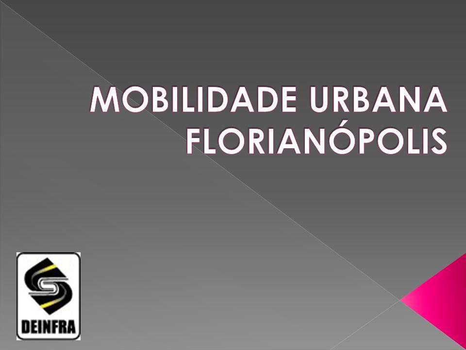 REGIÃO20072011% G.FLORIANÓPOLIS303.852482.53058,8 FLORIANÓPOLIS187.144272.53145,6 PALHOÇA E BIGUAÇU 33.43567.054100,5 NÚMERO DE VEÍCULOS DIAGNÓSTICO: POPULAÇÃO NA REGIÃO METROPOLITANA: 850 MIL PESSOAS