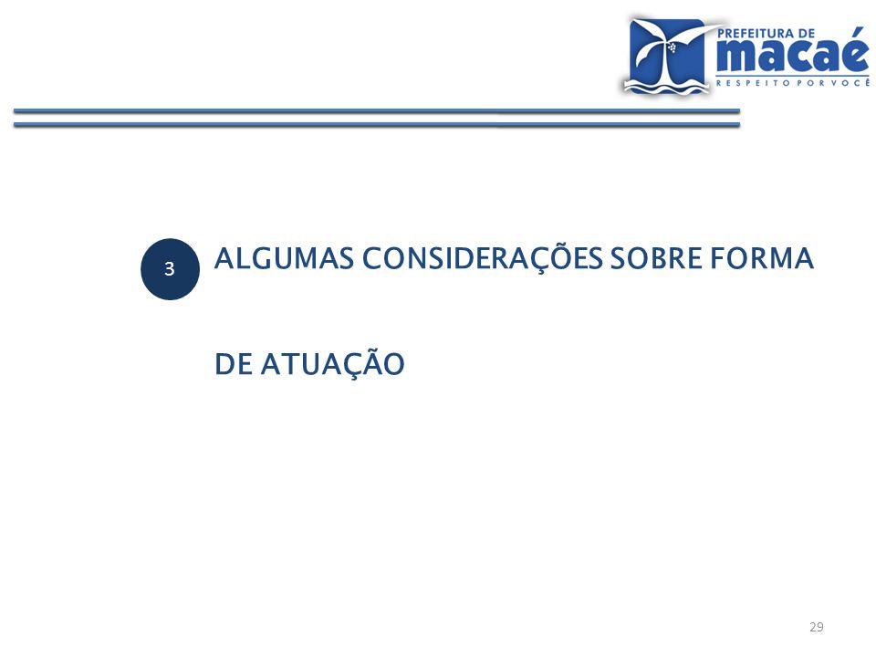 3 ALGUMAS CONSIDERAÇÕES SOBRE FORMA DE ATUAÇÃO 29