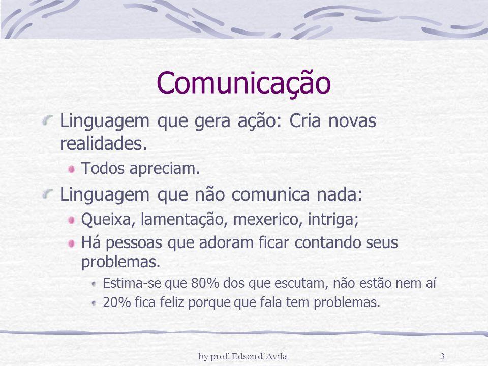 by prof.Edson d´Avila3 Comunicação Linguagem que gera ação: Cria novas realidades.