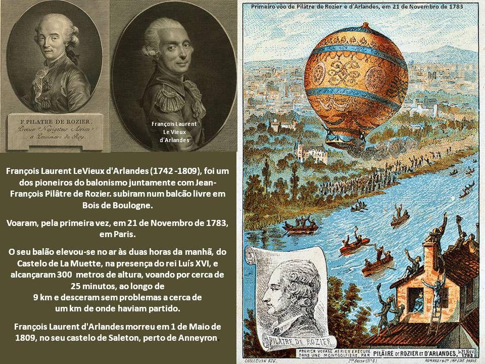 Montgolfier – Brothers balloon Paris No dia 5 de junho de 1783, o balão que possuía 32m de circunferência e era feito de linho foi cheio com fumaça de