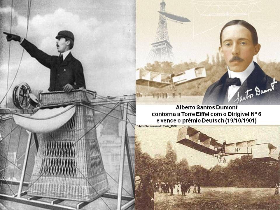 Alberto Santos Dumont (1916). Teve o apoio do pai, um rico plantador de café no Brasil, que lhe deu os meios para viver na França e pôr em prática às