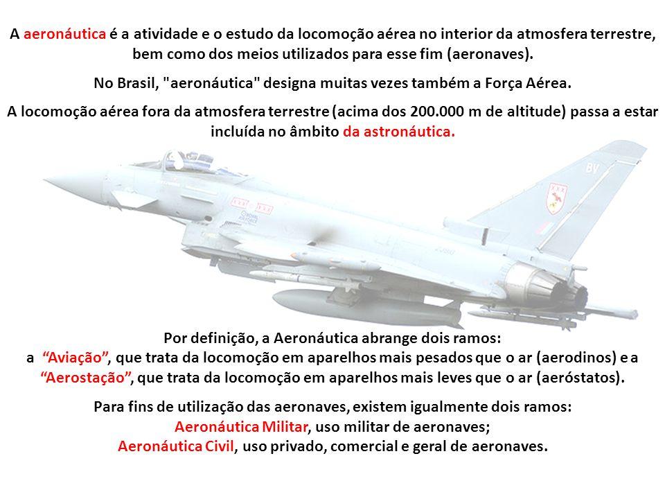 1 Definições e conceitos usuais na Aeronáutica 2 História e precursores da Aviação 2.1 Os caminhos da Aerostação 2.2 Os caminhos do Dirigível 2.3 Aero