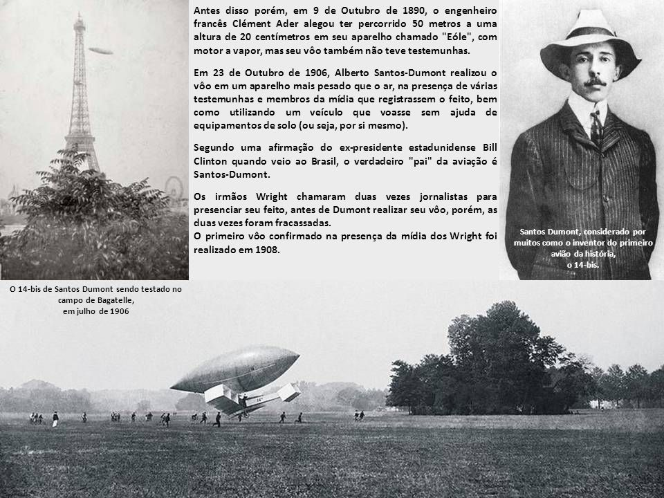 Vôo do Flyer dos Irmãos Wright, possivelmente um dos primeiros aviões da história.