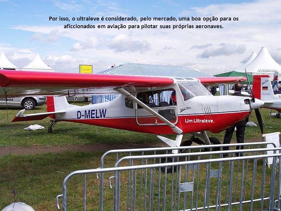 Ultraleve é um aerodino de baixas velocidade, capacidade de carregamento, potência e de baixos peso e custo.