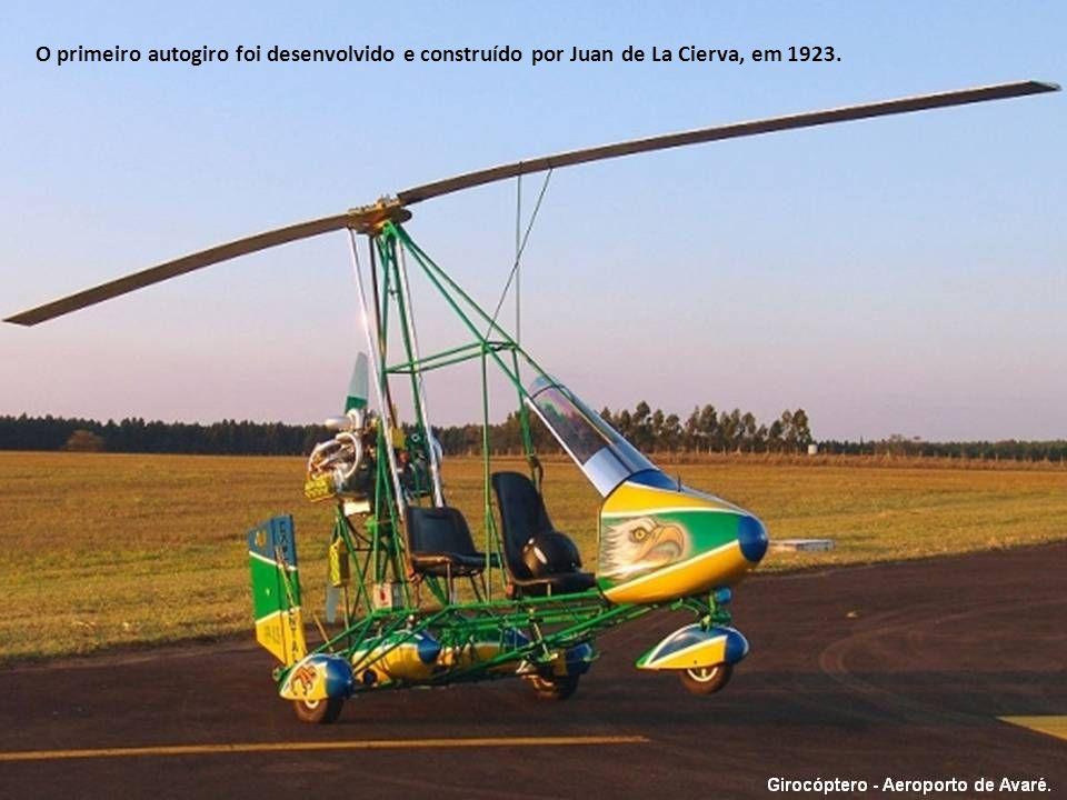 Girocóptero ou Autogiro é um tipo de aeronave cuja sustentação em vôo é fornecida por asas rotativas, mas, ao contrário dos helicópteros, o rotor gira