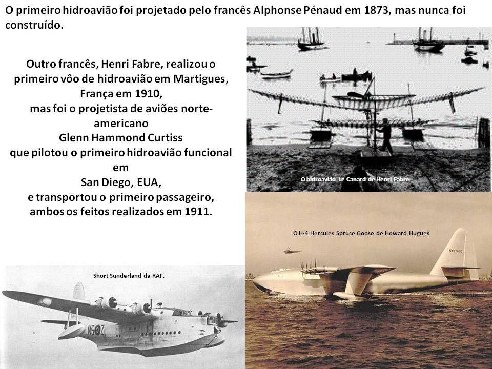 Hidroaviões Um hidroavião ou hidroaeroplano é um aeroplano preparado para descolar e pousar (