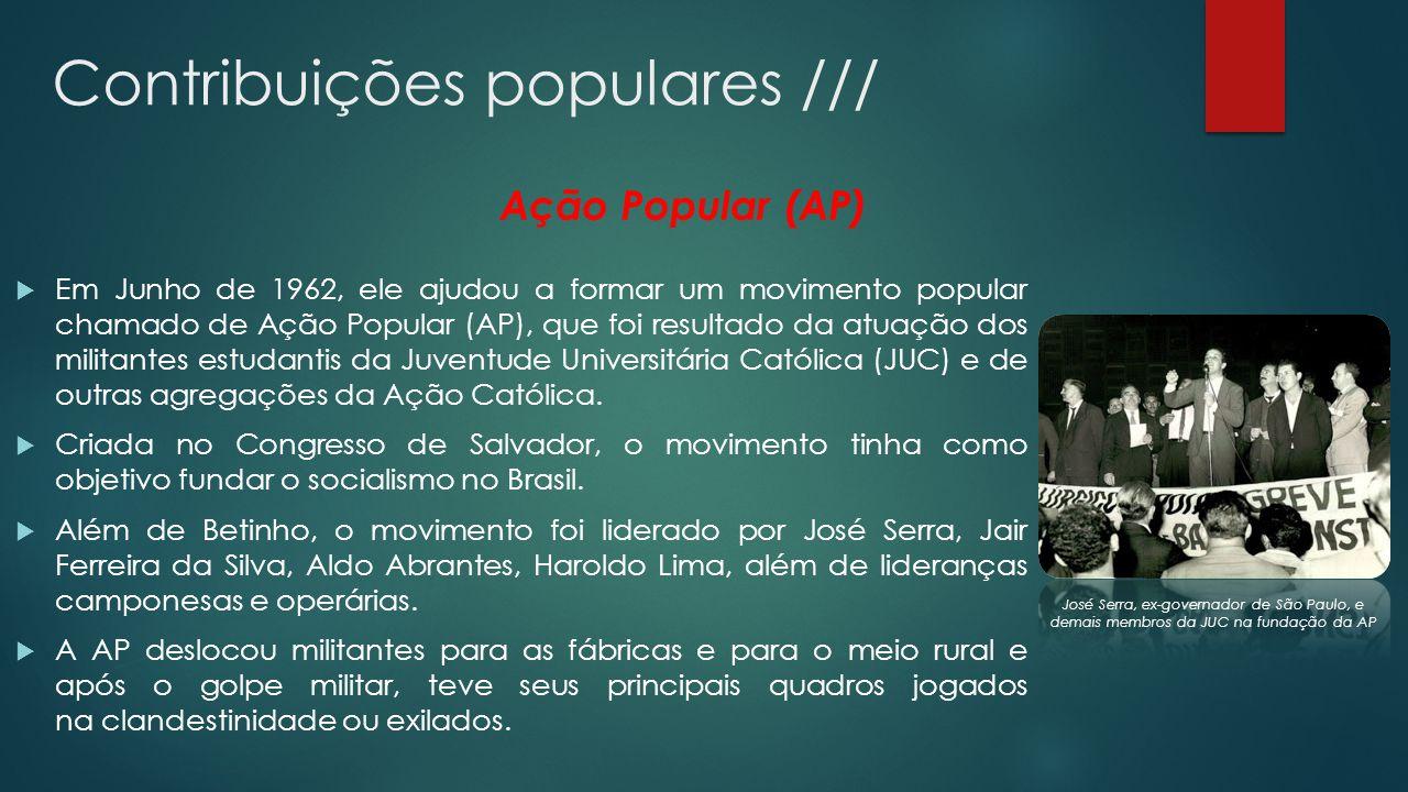 As transformações e o fim da AP Em 1966, foi a AP foi acusada de um atentado à um Aeroporto em Pernambuco que resultou na morte de duas pessoas além de quinze feridos.