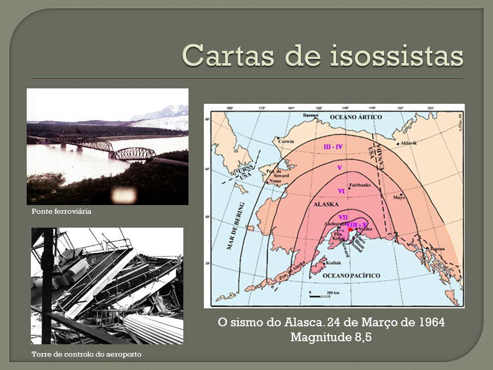 O sismo do Alasca. 24 de Março de 1964 Magnitude 8,5 Ponte ferroviária Torre de controlo do aeroporto