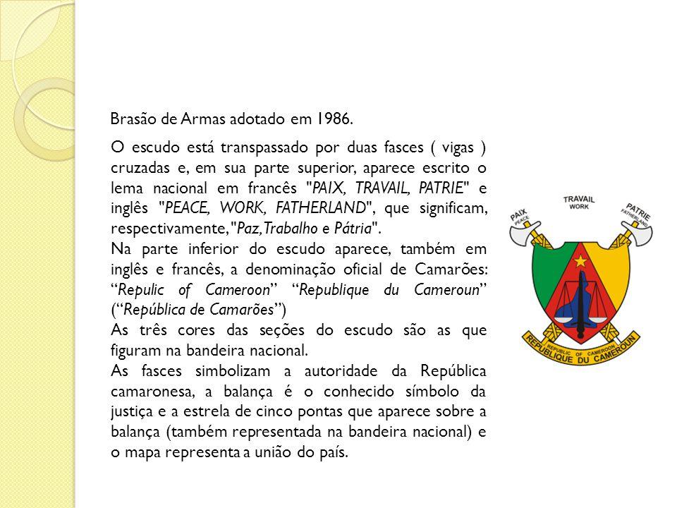 HINO NACIONAL Chant de Ralliement é o hino nacional dos Camarões.