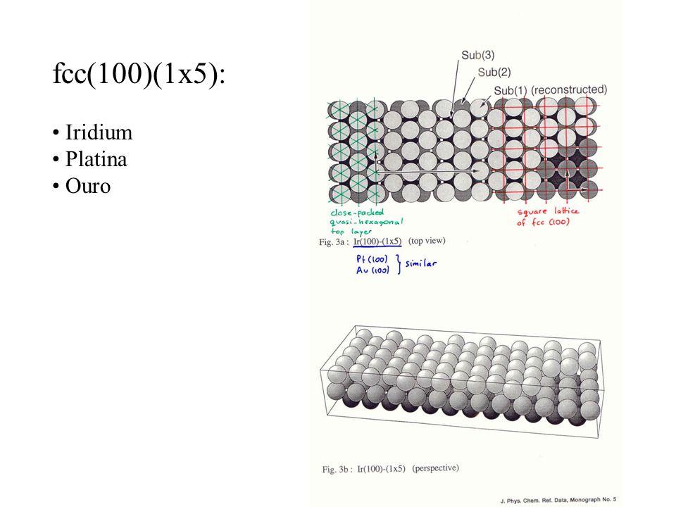 fcc(100)(1x5): Iridium Platina Ouro