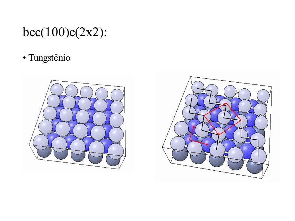 bcc(100)c(2x2): Tungstênio