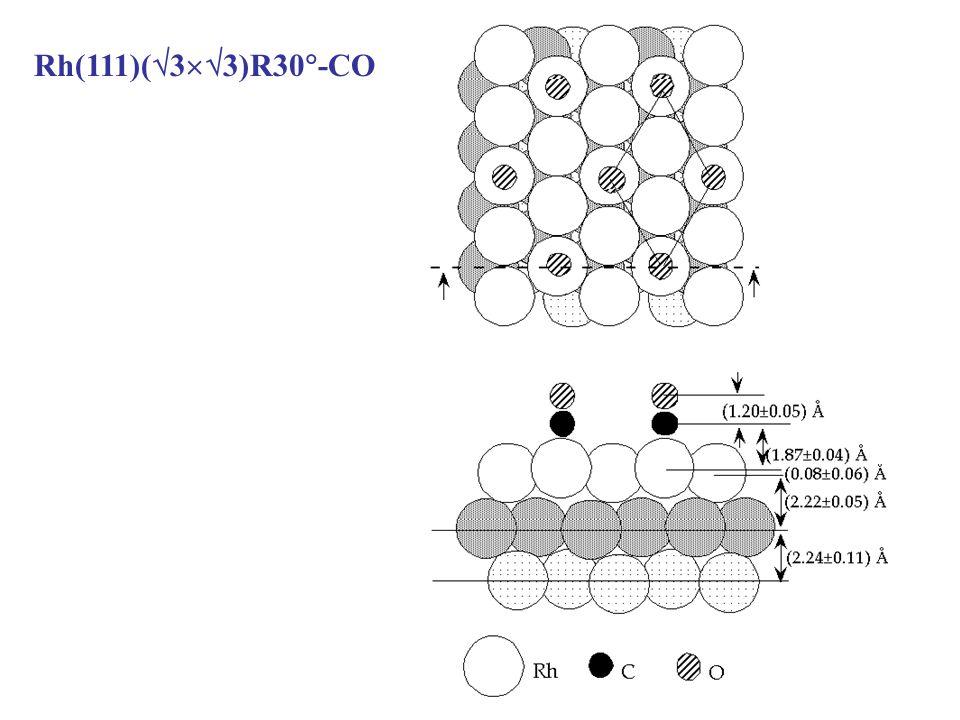 Rh(111)( 3 3)R30 -CO