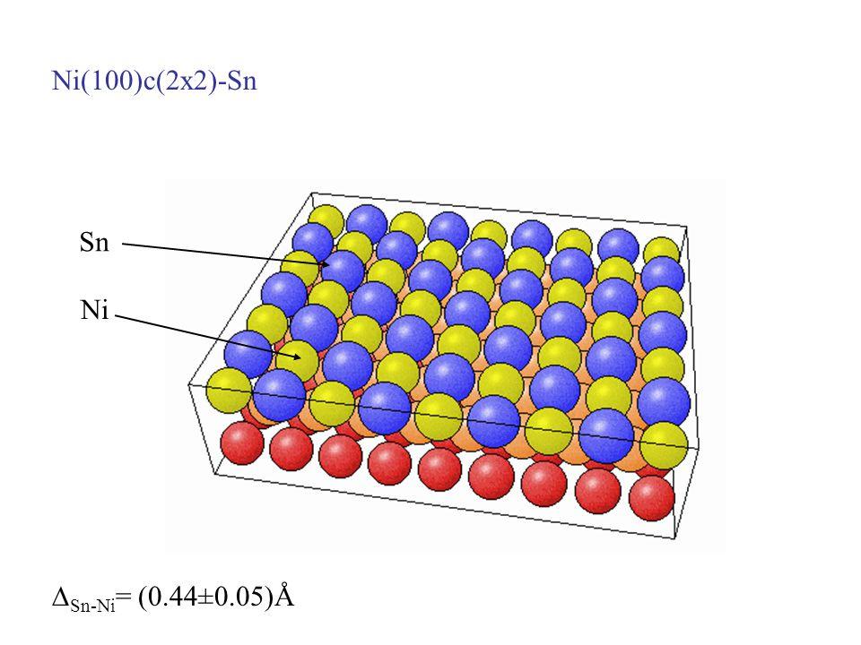 Ni(100)c(2x2)-Sn Sn Ni Sn-Ni = (0.44±0.05)Å