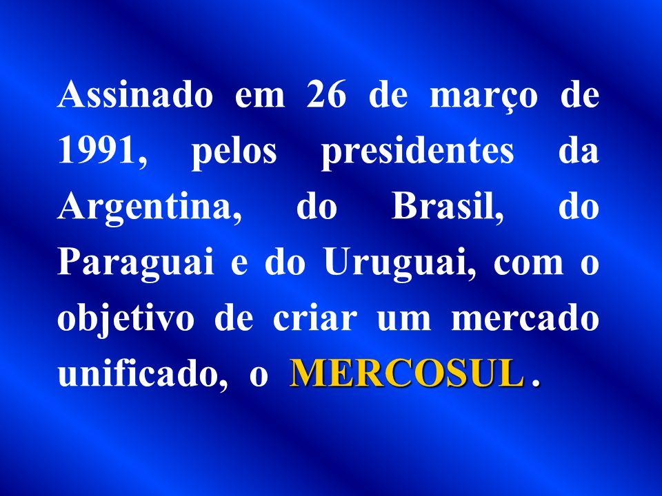 TRATADO DE ASSUNÇÃO 1991