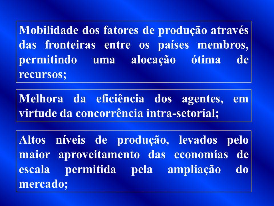 OBJETIVOS DO TRATADO DE ASSUNÇÃO A inserção competitiva dos quatro países em um mundo caracterizado pela consolidação de blocos regionais de comércio;