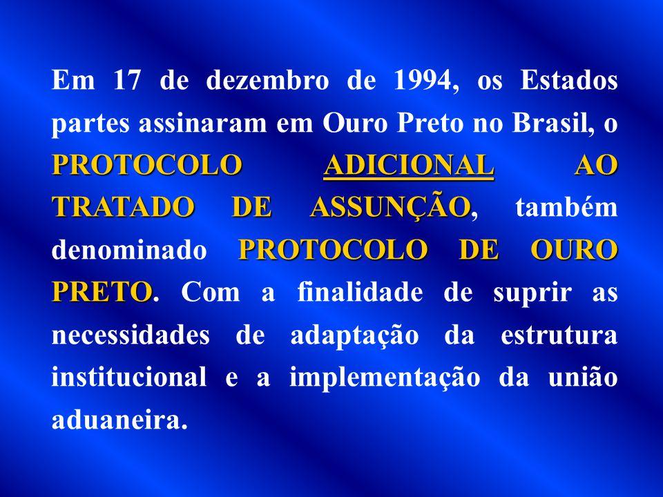 Em 17 de dezembro de 1991, foi assinado o PROTOCOLO DE BRASÍLIA, que dispunha sobre a solução de controvérsias. Este protocolo é um documento essencia