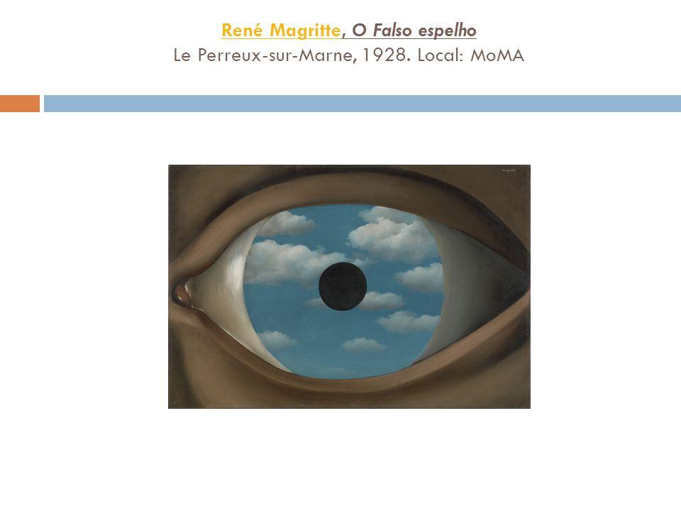 René MagritteRené Magritte, O Falso espelho Le Perreux-sur-Marne, 1928. Local: MoMA