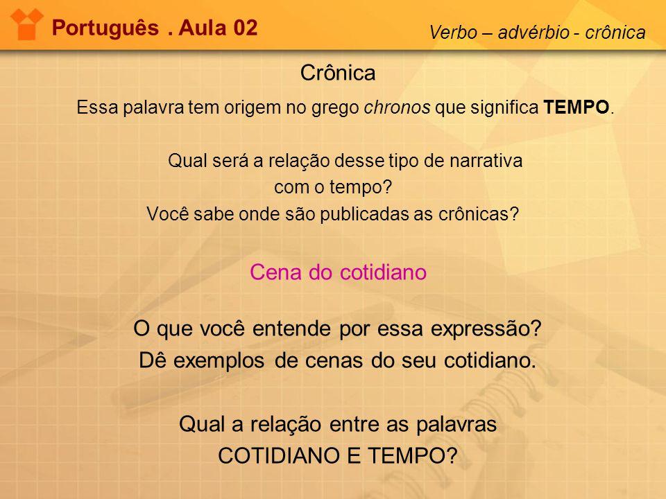 Observe a imagem Português.