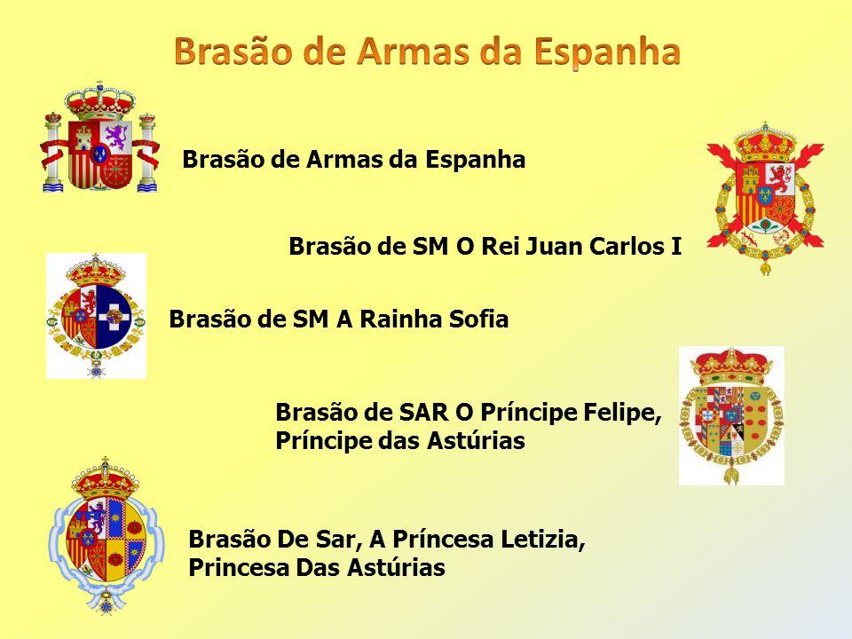 Brasão de SM O Rei Juan Carlos I Brasão de SM A Rainha Sofia Brasão de Armas da Espanha Brasão De Sar, A Príncesa Letizia, Princesa Das Astúrias Brasã