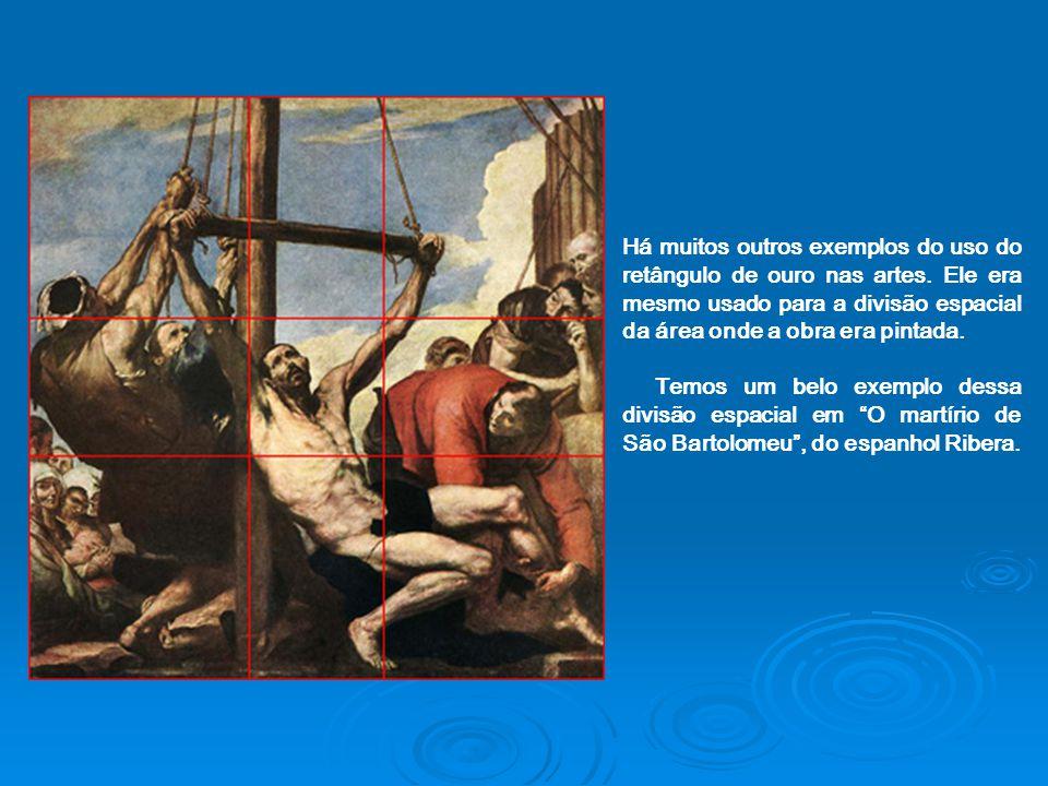 Há muitos outros exemplos do uso do retângulo de ouro nas artes. Ele era mesmo usado para a divisão espacial da área onde a obra era pintada. Temos um