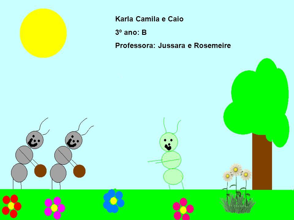 Karla Camila e Caio 3º ano: B Professora: Jussara e Rosemeire