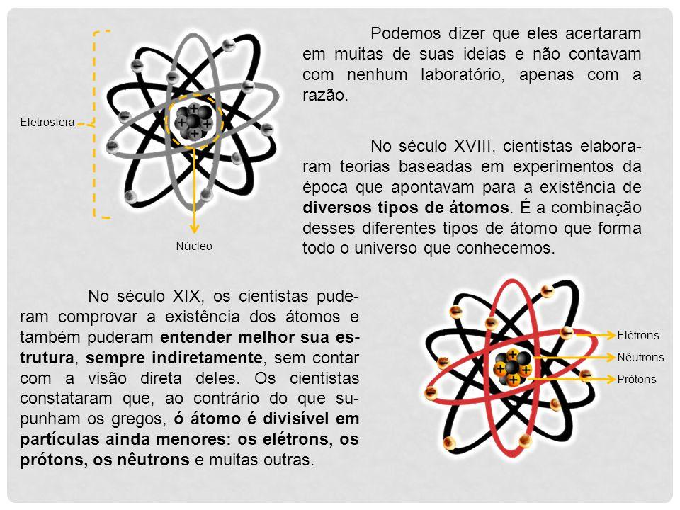 Um dos primeiros a dar tratamento científico ao estudo do átomo foi o inglês Jonh Dalton, no início do século XIX.