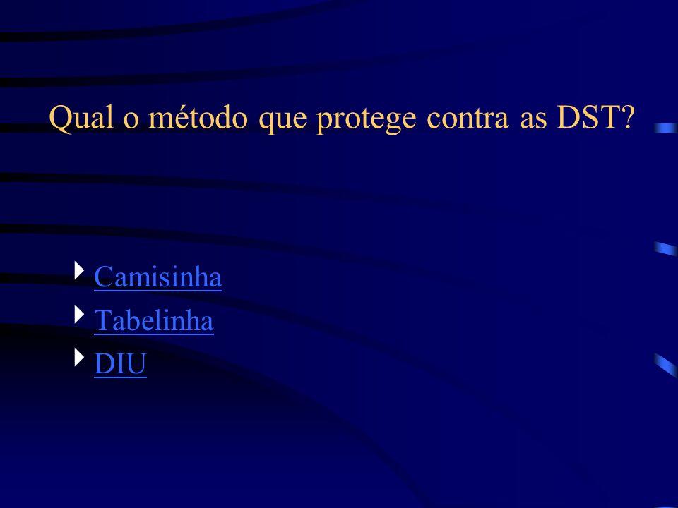 Qual o método que protege contra as DST? Camisinha Tabelinha DIU