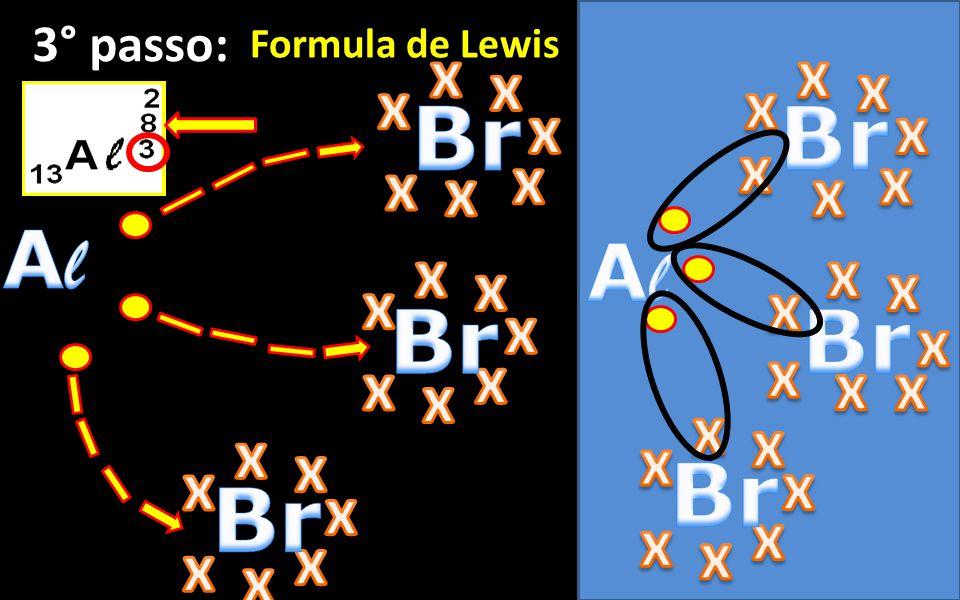 EX.: Brometo de alumínio 1° passo: Bromo + Alumínio 2° passo: Cargas eletrovalentes Formula química