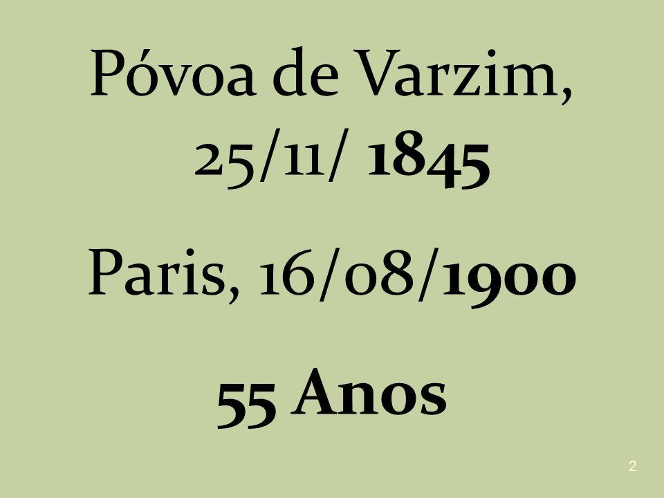 Póvoa de Varzim, 25/11/ 1845 Paris, 16/08/1900 55 Anos 2
