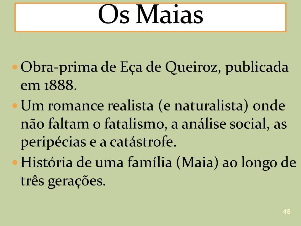 Obra-prima de Eça de Queiroz, publicada em 1888. Um romance realista (e naturalista) onde não faltam o fatalismo, a análise social, as peripécias e a