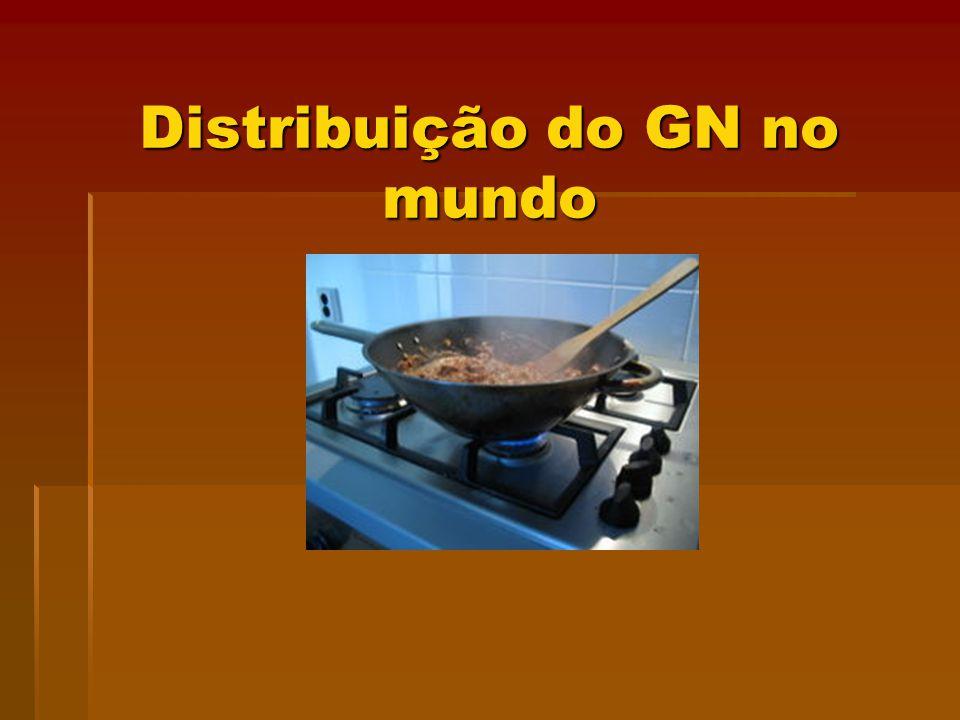 Distribuição do GN no mundo