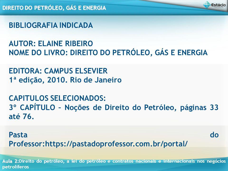 Aula 2: Aula 2:Direito do petróleo, a lei do petróleo e contratos nacionais e internacionais nos negócios petrolíferos DIREITO DO PETRÓLEO, GÁS E ENERGIA CONTRATOS NACIONAIS E INTERNACIONAIS APLICÁVEIS AOS NEGÓCIOS PETROLÍFEROS